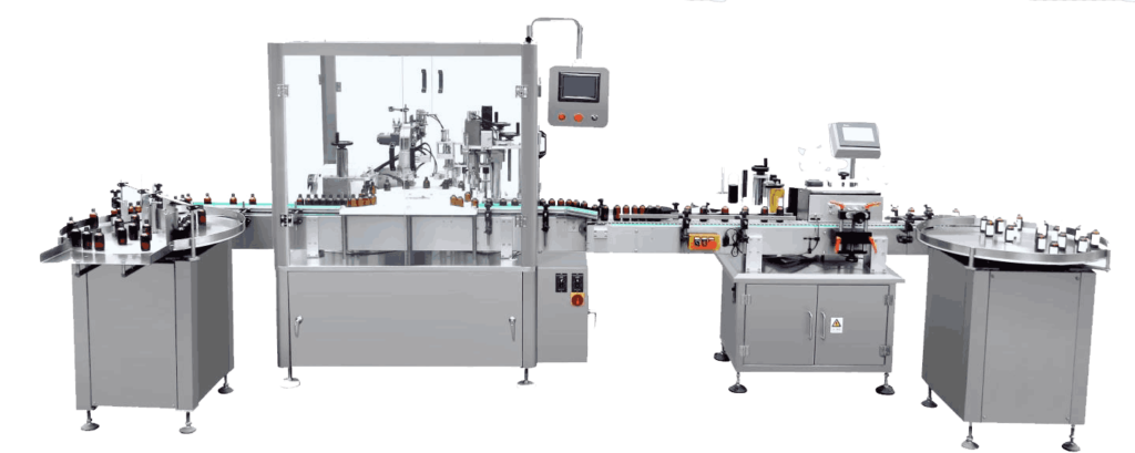 bottle filling & capping machine
